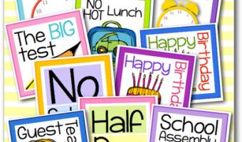 Calendar Freebies for Back to School