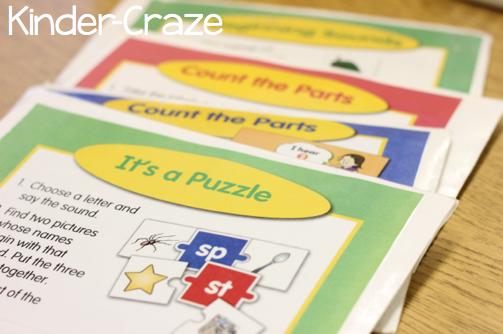 Take It To Your Seat Literacy Center Kits