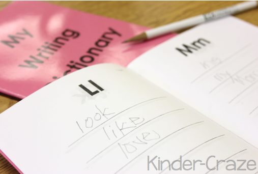 student writing dictionary for guided reading