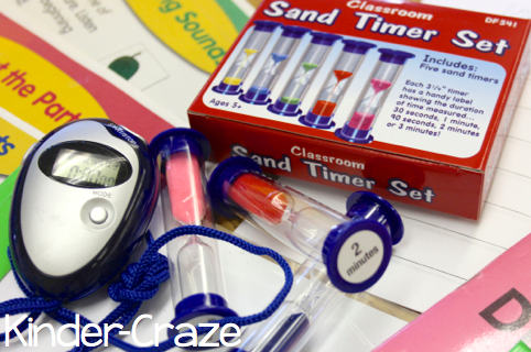 Use a sand timer to keep guided reading moving quickly