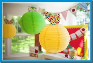 Cute lanterns for kindergarten classroom