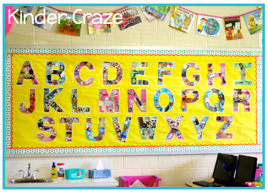 this teacher explains how she uses Letter of the Week as part of her classroom display