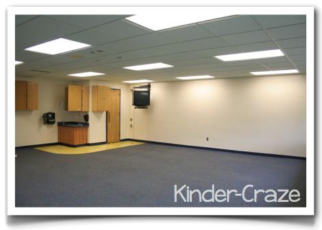 blank classroom walls