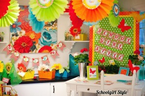 inspiring beautiful colors for a kindergarten classroom