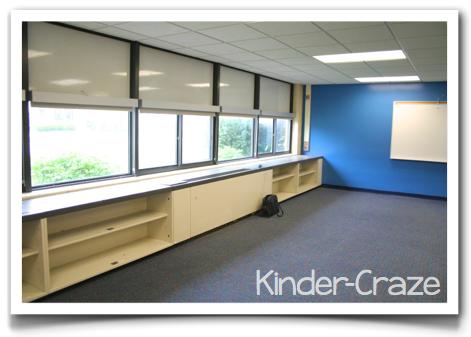 kindergarten classroom without furniture