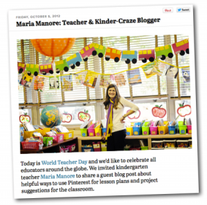 This Kindergarten Teacher Did a Guest Post on the Pinterest Blog