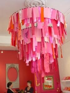 ribbon chandelier for kindergarten classroom