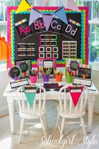The Schoolgirl Style Rainbow Chalkboard Collection