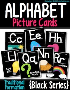 a bright twist on a traditional classroom alphabet