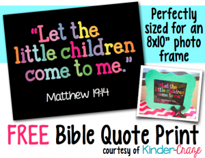 Let the Children Come to Me FREE print