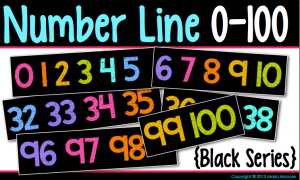 cute downloadable number line for classroom display
