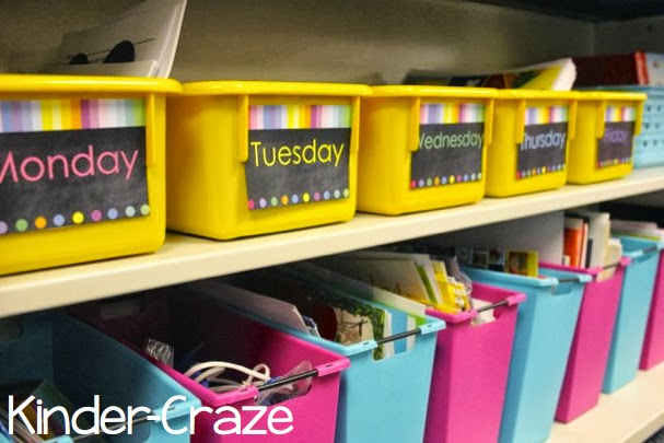 cute rainbow chalkboard labels from schoolgirl style
