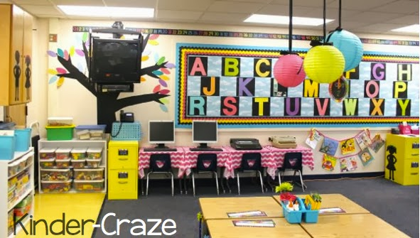 bright rainbow kindergarten classroom tour - Classroom Design Ideas