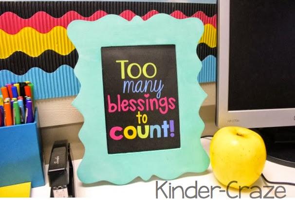cute blessings printable for a teacher desk