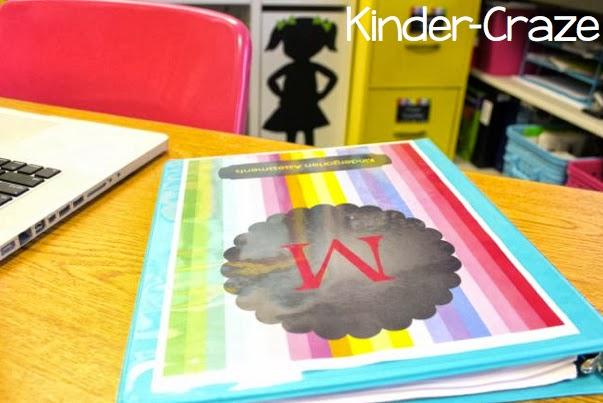 kindergarten teacher desk in a rainbow classroom tour