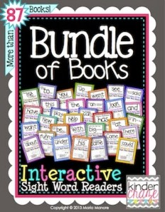 Bundle of Books Seasonal Interactive Sight Word Reader collection