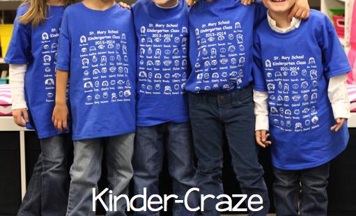 adorable custom t-shirts for a kindergarten class