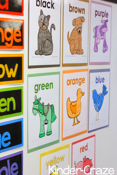 Making Color Words FUN for All {FREEBIE}