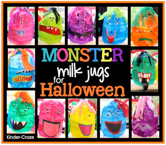 monster milk jugs for halloween treats