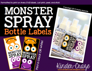 FREE monster spray labels