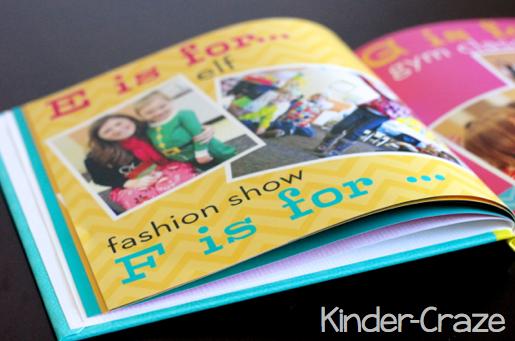 E&F page in alphabet photo book