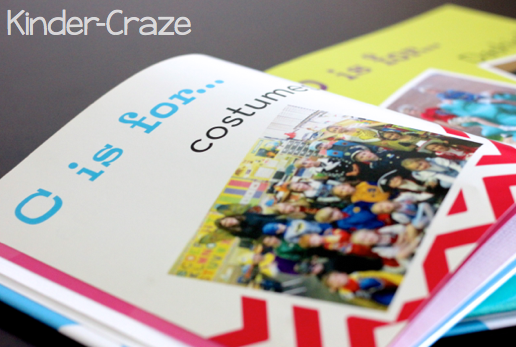 C page in alphabet photo book