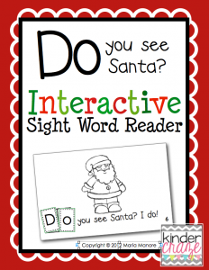 "Santa-themed emergent reader for sight word ""do"""