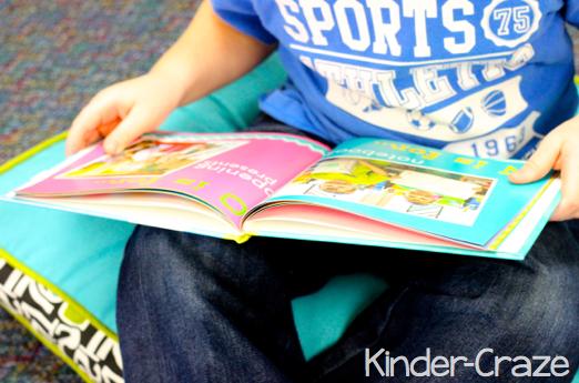 alphabet photo book from Shutterfly as a kindergarten class keepsake