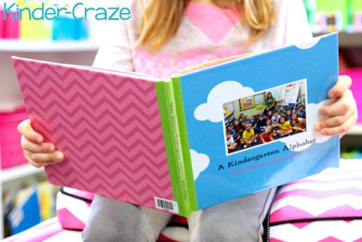 kindergarten alphabet photo books created in Shutterfly.