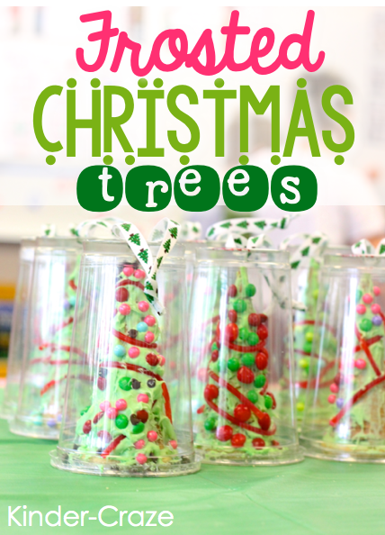 frosted christmas trees made from ice cream cones