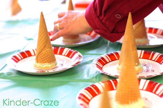 cute ideas for frosted ice cream cone Christmas trees