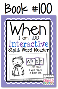 Perfect emergent reader for the 100th day of school