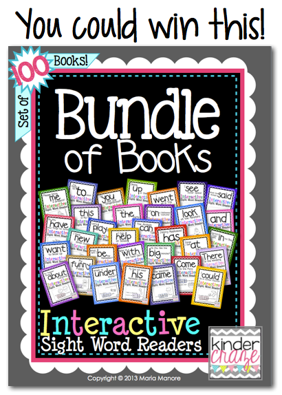 win a copy of TpT's best-selling Bundle of Books