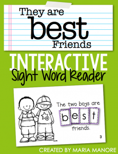 "emergent reader for sight word ""BEST"""