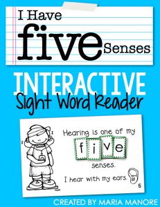 "emergent reader for sight word ""FIVE"""