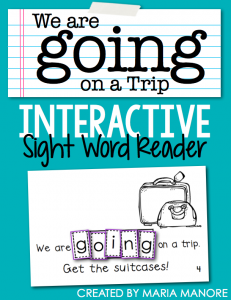 "emergent reader for sight word ""GOING"""