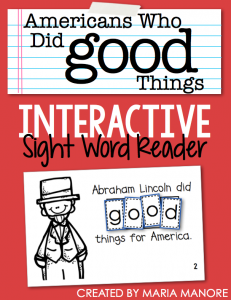 "emergent reader for sight word ""GOOD"""