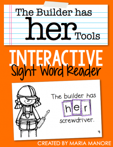 "emergent reader for sight word ""HER"""