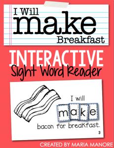 "emergent reader for sight word ""MAKE"""