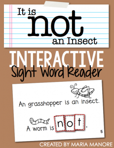 "emergent reader for sight word ""NOT"""