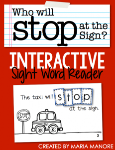 "emergent reader for sight word ""STOP"""
