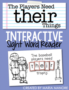 "emergent reader for sight word ""THEIR"""