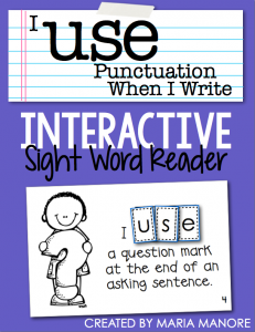 "emergent reader for sight word ""USE"""