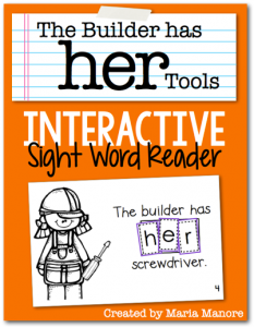 BRAND NEW Interactive Sight Word Reader from Maria Manore