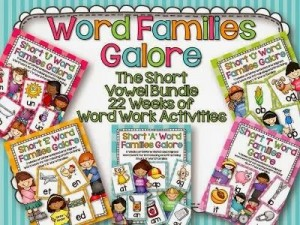 Word Family Galore from a Differentiated Kindergarten
