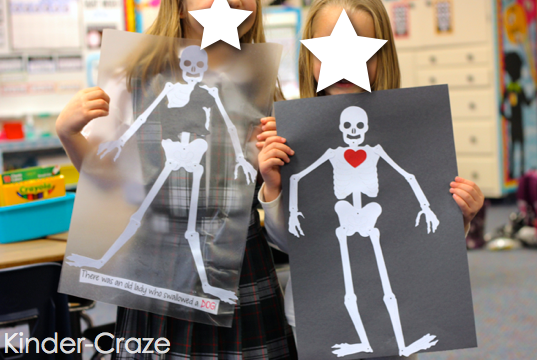 cute x-ray skeleton craft project ideas