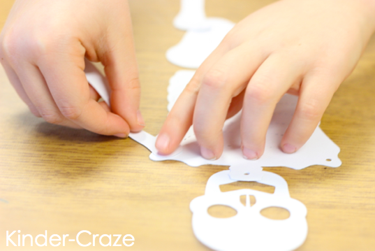 cute kindergarten x-ray skeleton craft