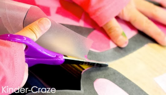 """make """"stained glass"""" window decorations with tissue paper"""