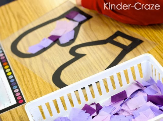 """simple and adorable """"stained glass"""" mitten craft"""