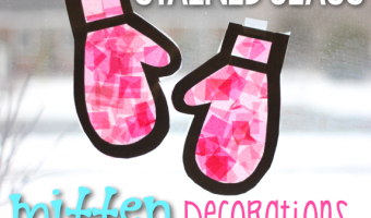 Stained Glass Mitten Window Decor Tutorial